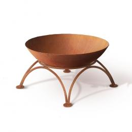 Rustic Fire Pit Brazier Charcoal Iron Bowl Outdoor Wood Burner 50CM