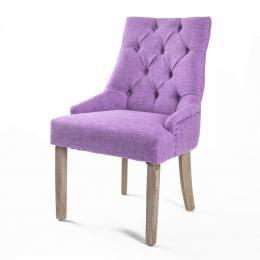 1X French Provincial Oak Leg Chair AMOUR - VIOLET