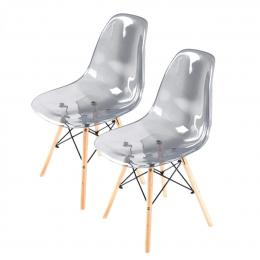 Replica Eames DSW Dining Chair - Crystal Grey X2