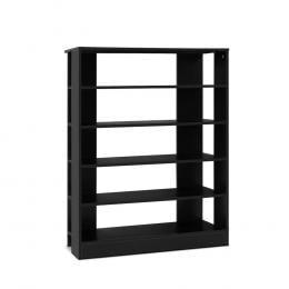 Shoe Cabinet Shoes Organiser Storage Rack 30 Pairs Black Shelf Wooden