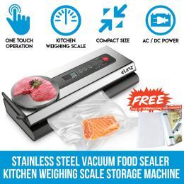 Elinz Stainless Steel Food Vacuum Sealer 4x Extra Rolls Packaging