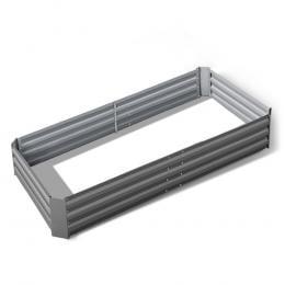 Galvanised Steel Raised Garden Bed Instant Planter 210 x 90 Aluminium