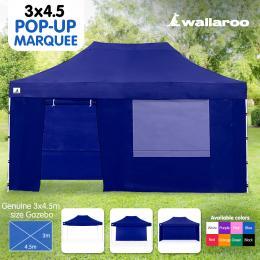 Wallaroo 3x4.5m Popup Gazebo Blue