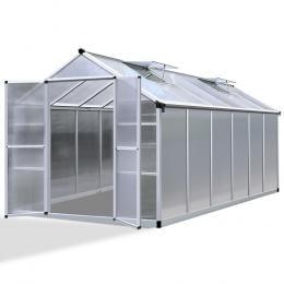 Green Fingers 3.7 x 2.5m Polycarbonate Aluminium Greenhouse