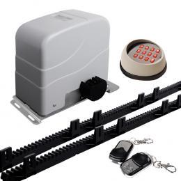 Motor Powered Auto Sliding Gate Opener w/ Wireless Key Pad & 6m Rails