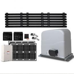 LockMaster 40W Auto Solar Sliding Gate Opener Electric 1200kg 6M