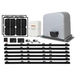 Solar Powered Electric Sliding Gate Opener 1200kg 6M Remote Control