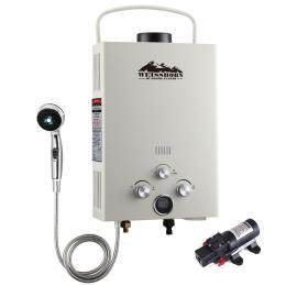 Outdoor Portable Gas Hot Water Heater  LPG Caravan Pump Beige