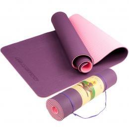 Powertrain Eco Friendly TPE Yoga Exercise Mat - Dark Purple