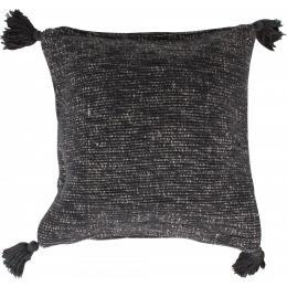 Corfu Cushion With 4 Tassels Black 45 X 45cm