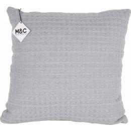 Cotton Cushion Waffle 45x45cm Grey