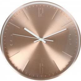 Stockholm Alumin. Wall Clock Rose Gold W/white Hands 31 X 4