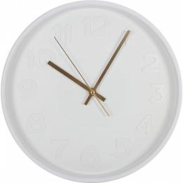Faroe Plastic Wall Clock 30 X 4cm White W/gold Hands