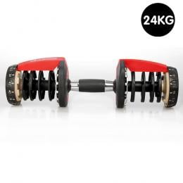 1x Powertrain Adjustable Home Gym Dumbbell Handle - 24kg