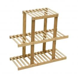 3 Tiers Bamboo Plant Flower Stand Shelf