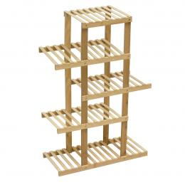 5 Tiers Bamboo Plant Flower Stand Shelf