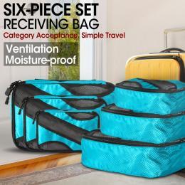 Six Piece Set Receiving Bag Light Blue