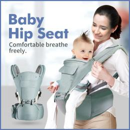 Ergonomic Infant Baby Carrier With Hip Seat Wrap Sling Backpack Green