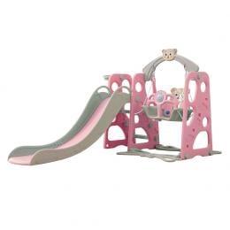 BoPeep Kids Slide Swing Basketball Ring Activity Center Play Set Pink