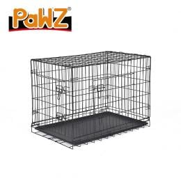 Pet Dog Cage Kennel Portable Collapsible Puppy Metal Playpen 42in