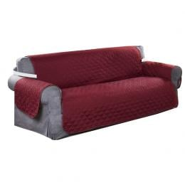 Sofa Cover Couch Lounge Protector Slipcovers  Wine 335cm x 218cm