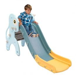 Kids Slide 135cm Long Activity Center Toddlers Play Blue