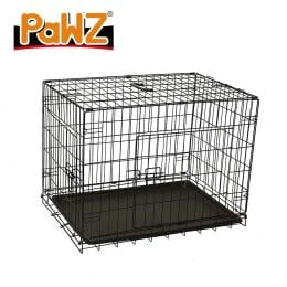 Pet Dog Cage Crate Kennel Collapsible Puppy Metal Playpen 30in