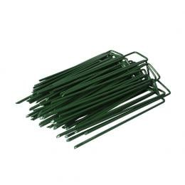 50PCS Synthetic Artificial Grass Turf Pins U Fastening Lawn Weed Mat