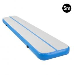 5m Inflatable Gymnastics Mat Gym Air Track Tumbling Airtrack - Blue