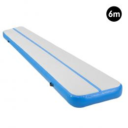 6m Inflatable Gymnastics Mat Gym Air Track Tumbling Airtrack - Blue