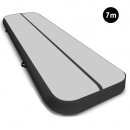 7m Airtrack Tumbling Mat Gymnastics Exercise 20cm Air Track Grey Black