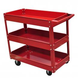 Workshop Tool Trolley 100 kg Load - Red