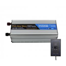 Pure Sine Wave Power Inverter 2500w/5000w 12v-240v Remote Control