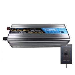 Pure Sine Wave Power Inverter 3000w/6000w 12v-240v Remote Control