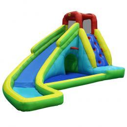 Happy Hop Inflatable Water Jumping Castle Bouncer Toy Slide Splash kid