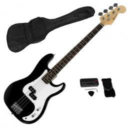 Karrera Electric Bass Guitar Pack - Black