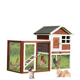 Wooden Large Chicken Coop Rabbit Hutch Hen House With Run