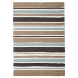 Taupe Coloured Stripes Childrens Floor Rug