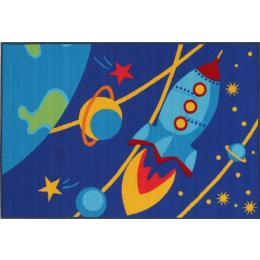 Kids Non Slip Outer Space Floor Rug