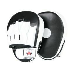 Leather Punch Hit Focus Curved Training Coaching Black/White Pads