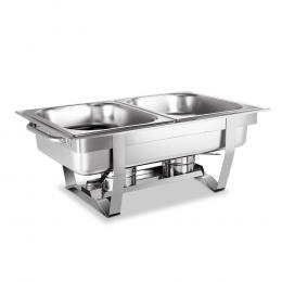 9L Bain Marie Chafing Dish 4.5Lx2 Stainless Steel Food Stackable