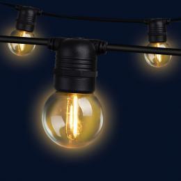 Jingle Jollys 41m LED Festoon String Lights 40 Bulbs Kits G45