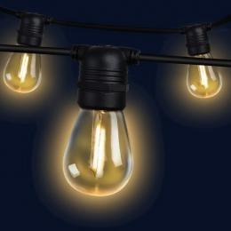 68m LED Festoon String Lights 70 Bulbs Kits Wedding Party Christmas