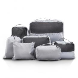 7PCS Grey Luggage Organiser  Sets Travel Packing Cubes Pouch Bag