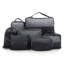 7PCS Dark Grey Packing Cubes Luggage Organiser Suitcase Storage Bag