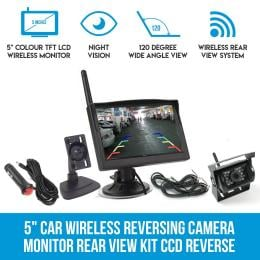 5In Car Wireless Reversing Camera Monitor Rear View Kit