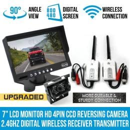 7In lcd Monitor Hd 4pin Reversing Camera Digital Wireless Receiver