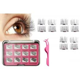 3D Magnetic Eyelashes with Tweezer Reusable - 1Set
