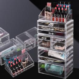 Clear Acrylic Cosmetic Organizer Jewellery Storage Box With 10 Drawers