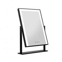 LED Makeup Mirror Hollywood Standing Mirror Tabletop Vanity Black